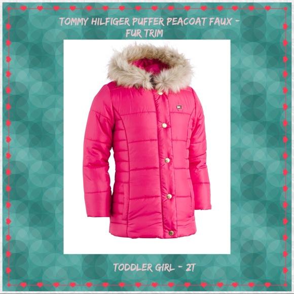 43be4f43 Tommy Hilfiger Jackets & Coats | Puffer Peacoat Faux Fur 2t | Poshmark